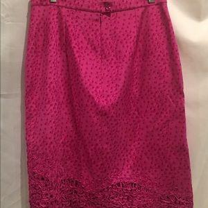 Vera Cristina Skirts - Vera Cristina Hot Pink Silk Skirt Sz 8